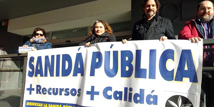 Cadena humana en defensa de la Sanidá Pública Asturiana