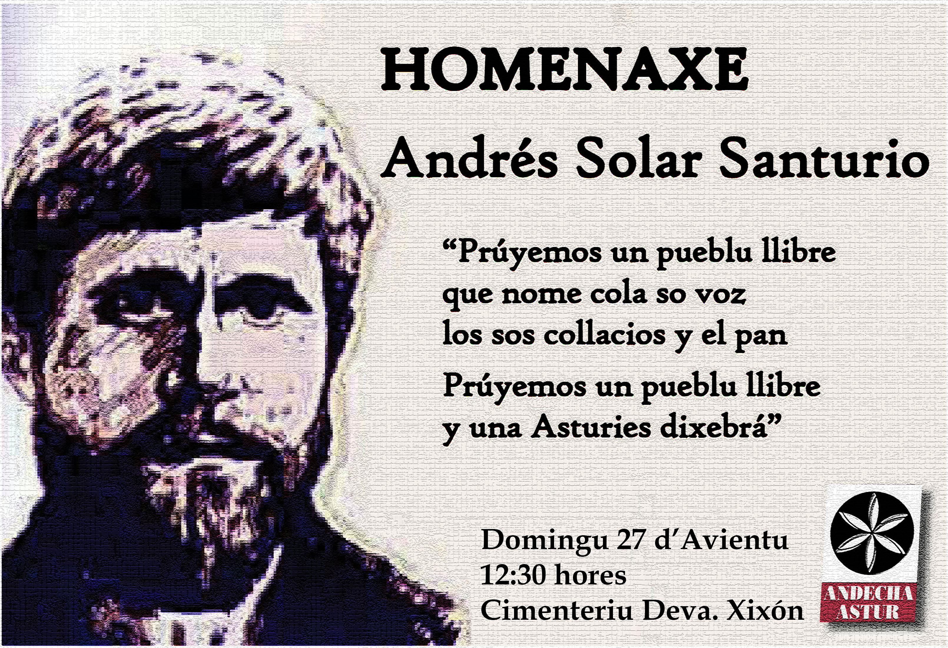 Homenaxe y reivindicación d'Andrés Solar