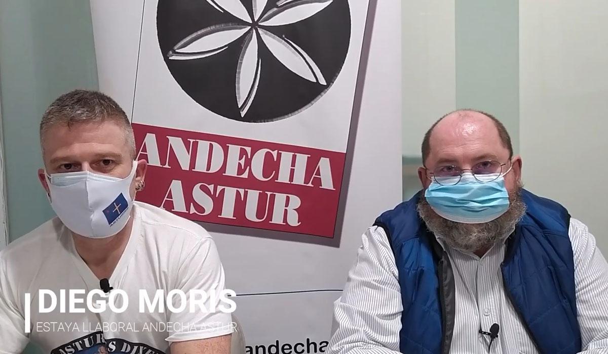 Denuncia d'Andecha Astur polos dos trabayaores muertos en Rufrío