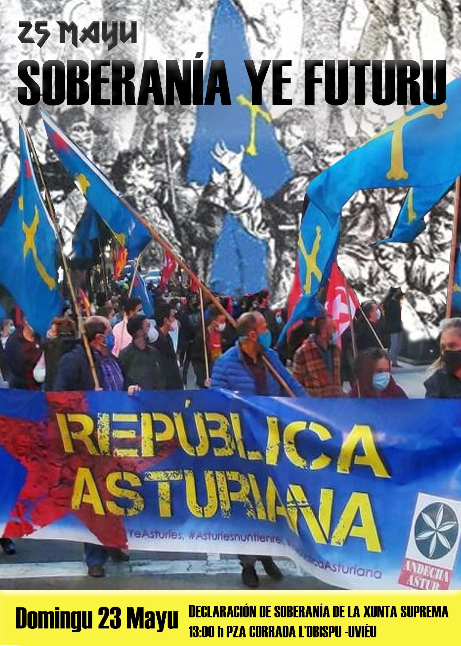 La Xunta Xeneral tramita'l pidíu d'Andecha Astur pa cellebrar istitucionalmente la Declaración de Soberania del 25 Mayu