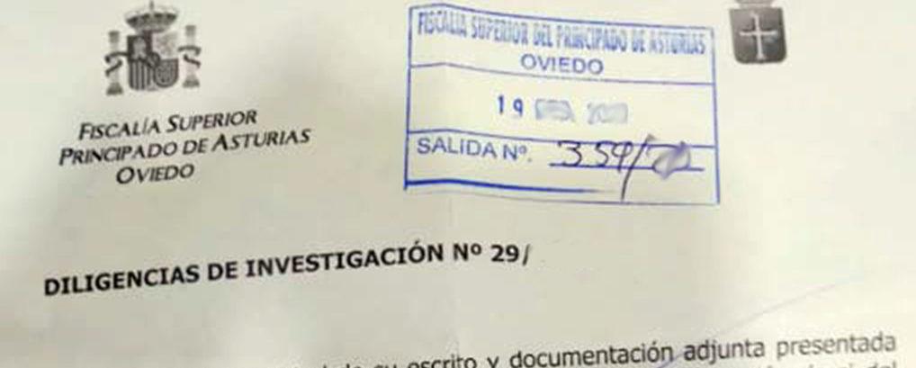La Fiscalía Superior investiga la denuncia d'Andecha Astur a Barbón por prevaricación y cohecho