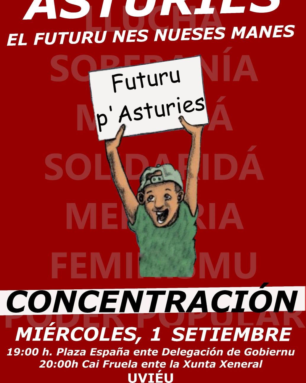 """Concentración """"El Futuru nes nueses manes"""""""